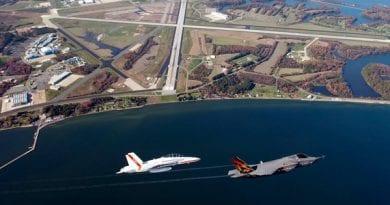 Flight pattern change at NAS Pax River due to runway repairs