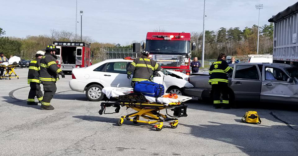 Mock crash near Patuxent High School today - The Southern Maryland