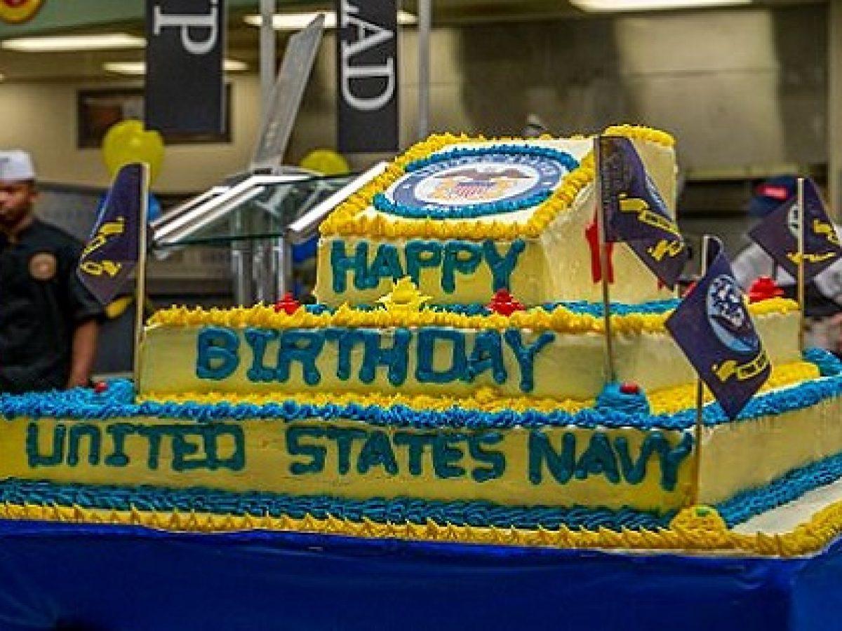 Stupendous Sailors Community Leaders Celebrate Navys 243Rd Birthday Funny Birthday Cards Online Fluifree Goldxyz
