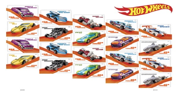 U S  Postal Service Forever Stamps Commemorate Hot Wheels' 50th