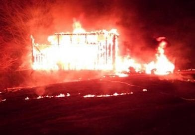 Tobacco Barn destroyed in early morning blaze