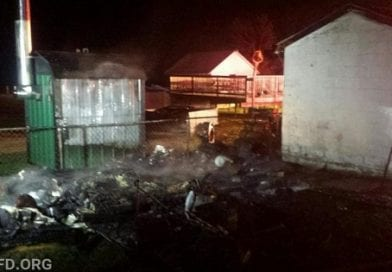 Building fire in Dameron destroys shed
