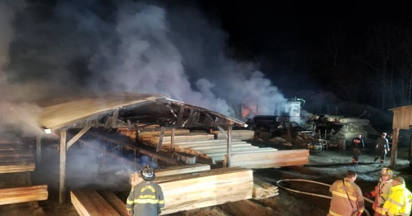 Accidental fire destroys Mechanicsville Saw Mill barn - The Southern