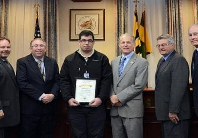 Calvert Commissioners honor employee who went above and beyond