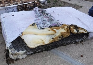 Child ignites mattress playing with lighter