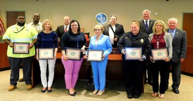 County Commissioners honor Sheriff's employees for service