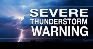 SoMd under Severe Thunderstorm Warning