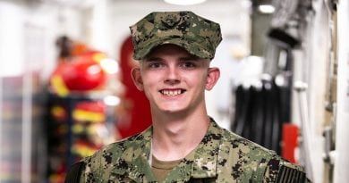 Chopticon Grad serves the Navy a world away