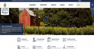 Calvert County unveils new website design