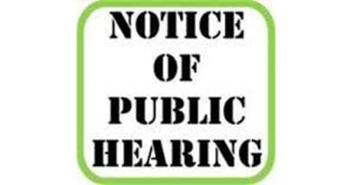 Notice of Public Hearing to Consider Proposed Ordinance for Supplemental Appropriations Related to COVID-19 Response