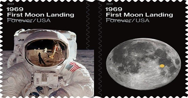 U S  Postal Service Issues 1969: First Moon Landing Forever Stamps
