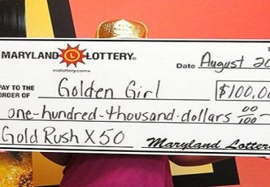 Huntingtown scratch-off fan scratches her way to $100,000