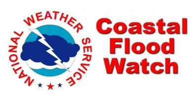 Coastal Flood advisories and Watches for St. Mary's Calvert