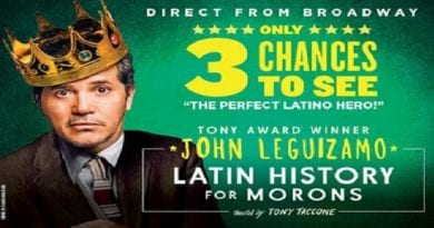 """John Leguizamo's """" Latin History for Morons"""" set to open at the National Theatre next month"""