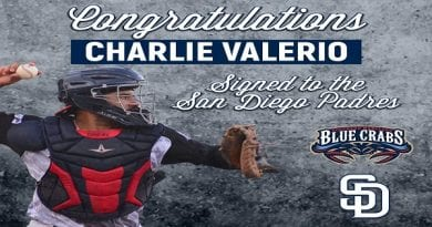 Blue Crabs Catcher Charlie Valerio Signs With The San Diego Padres