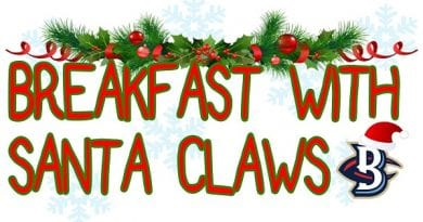 "Blue Crabs announce ""Breakfast with Santa Claws"" in December"