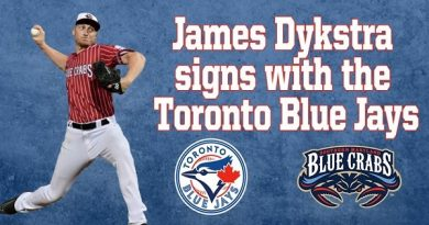 Blue Crabs James Dykstra Signs With The Toronto Blue Jays