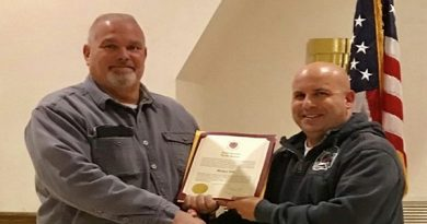 "Maryland State Fireman's Association Recognizes ""Fire Top Responder"" Richard Pike"