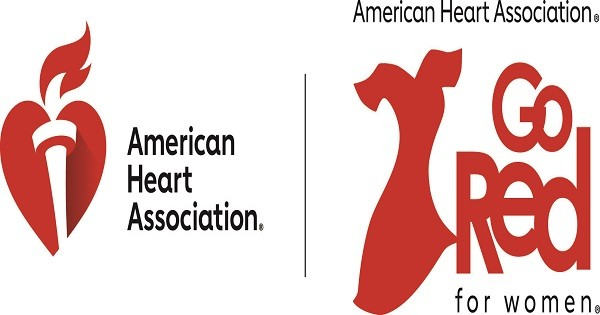 American Heart Association Red Dress/Go Red for Women logo (registered trademarks)  copyright American Heart Association