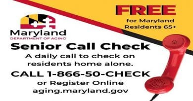 The St. Mary's County Department of Aging & Human Services offers Maryland Senior Call Check