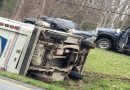 Traffic slowed in Mechanicsville for overturned Postal truck