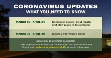 CSM Campuses continue to be closed as online classes resume