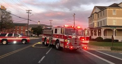 Building fire reported in La Plata