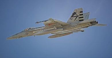 Navy completes first AARGM-ER captive carry flight on F/A-18