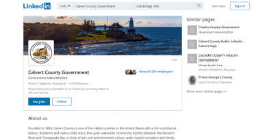 Calvert County Government Offers LinkedIn Page to Stay Connected with Citizens