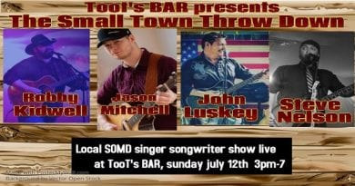SoMD Local Music Schedule for the week of July 9-15, 2020