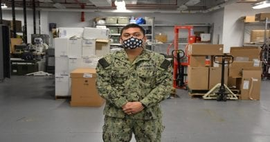 Petty Officer First Class Jerhmeel Guillermo plays critical in Naval Health Clinic Annapolis fight vs. Cornavirus